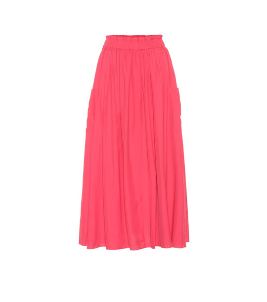 Co High-rise midi skirt in pink