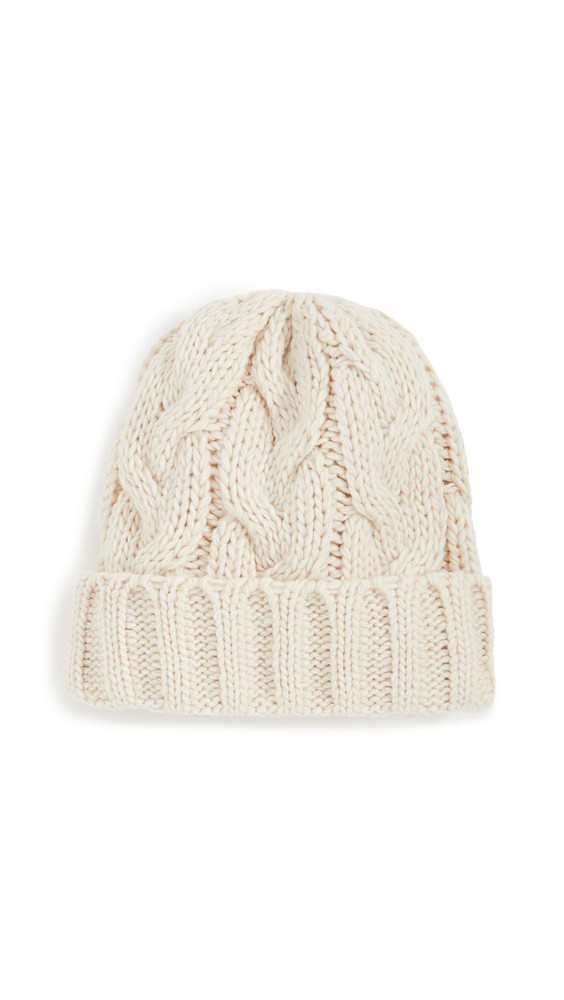 Hat Attack Fisherman Cable Hat in ivory