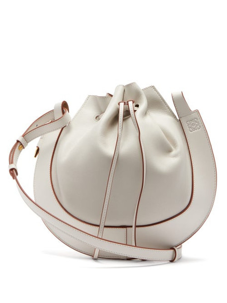 Loewe - Horseshoe Leather Bag - Womens - White