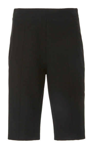 Tibi Anson Stretch-Crepe Biker Shorts Size: 2 in black