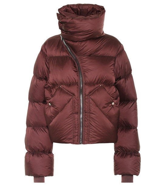 Rick Owens Mountain Duvet puffer jacket in red