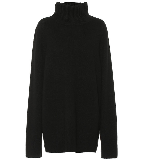The Row Milina wool and cashmere sweater in black