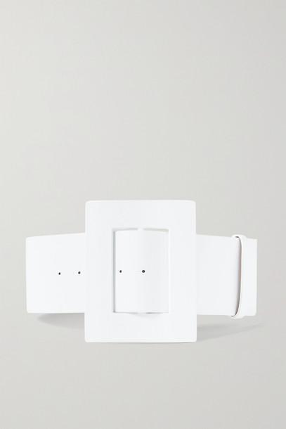 CAROLINA HERRERA - Leather Waist Belt - White