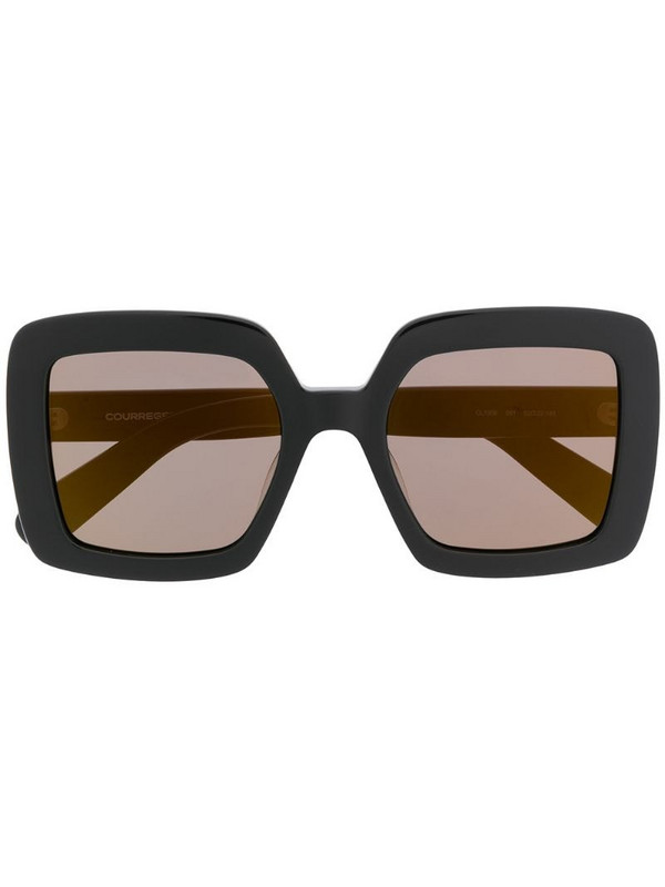 Courrèges Eyewear square oversized-frame sunglasses in black
