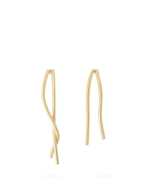 Completedworks - Rift & Surge Mismatched Gold Vermeil Earrings - Womens - Gold