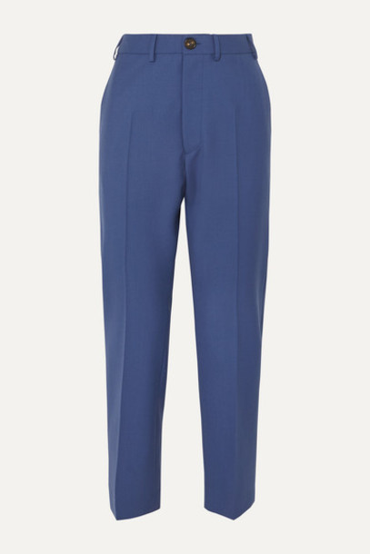 Vivienne Westwood - Long George Wool Slim-fit Pants - Blue