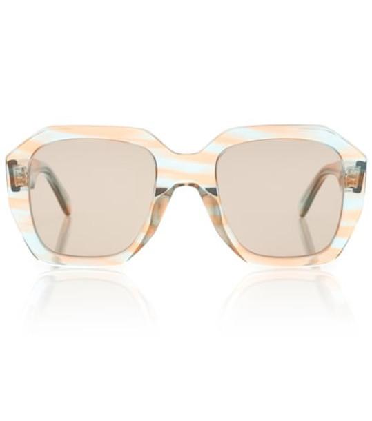 Celine Eyewear Oversized square sunglasses in beige