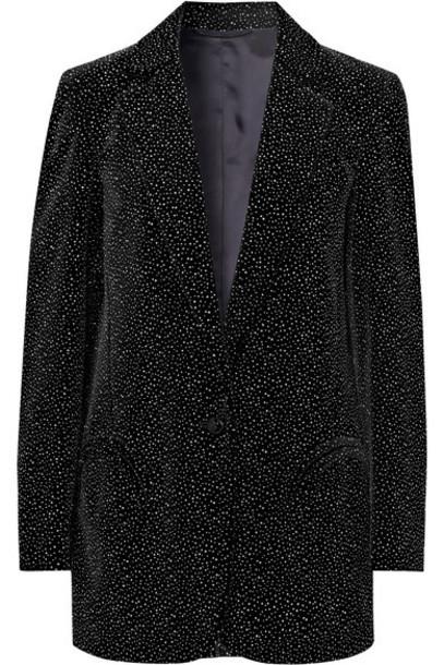 Blazé Milano - Cassiana Weekend Glittered Velvet Blazer - Black