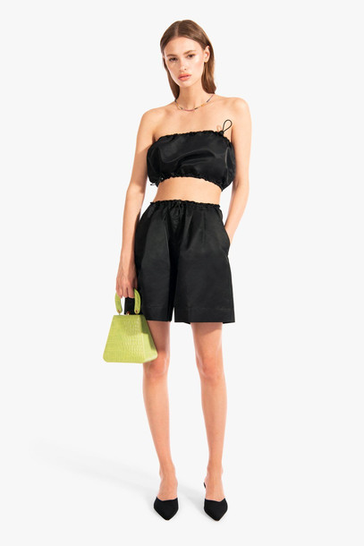 Staud COCONUT SHORT | BLACK