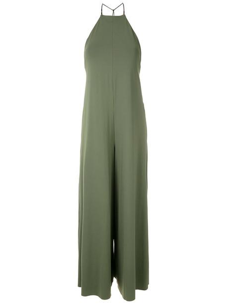 Osklen Naked halter neck jumpsuit - Green