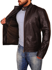 coat,movies,celebrity style,menswear,leather jacket,brown jacket