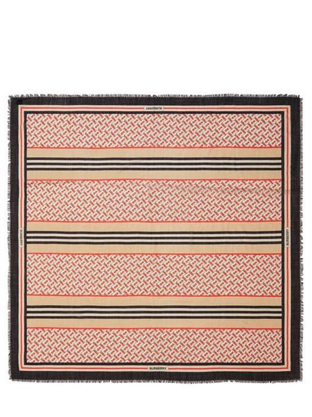 BURBERRY Monogram Wool & Silk Scarf