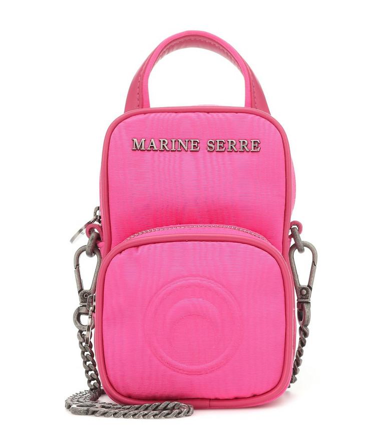 Marine Serre Moiré crossbody bag in pink