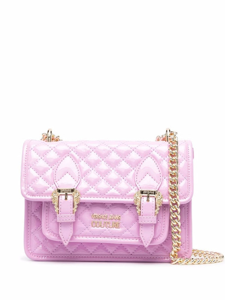Versace Jeans Couture quilted shoulder bag - Pink