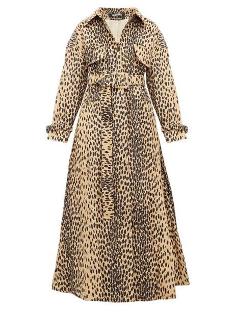 Jacquemus - Thika Leopard Print Belted Cotton Blend Coat - Womens - Leopard