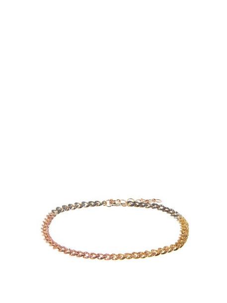 Shay - Rainbow Diamond, Ruby & 18kt Gold Ankle Bracelet - Womens - Multi
