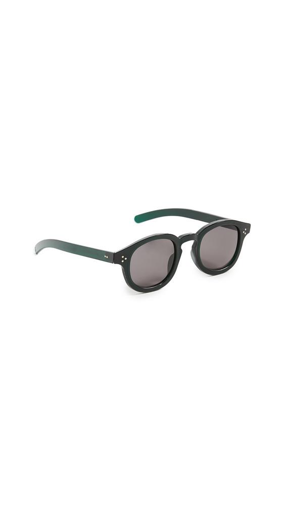 Genusee CR 39 Sunglasses in grey / green