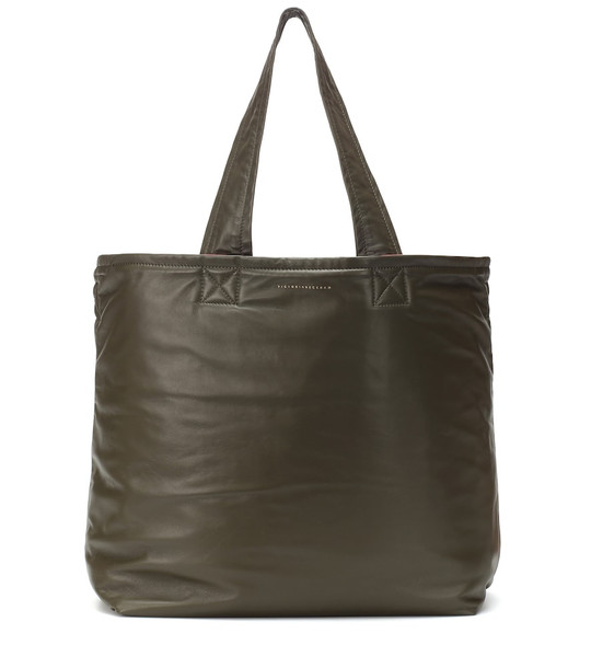 Victoria Beckham New Sunday leather tote in green