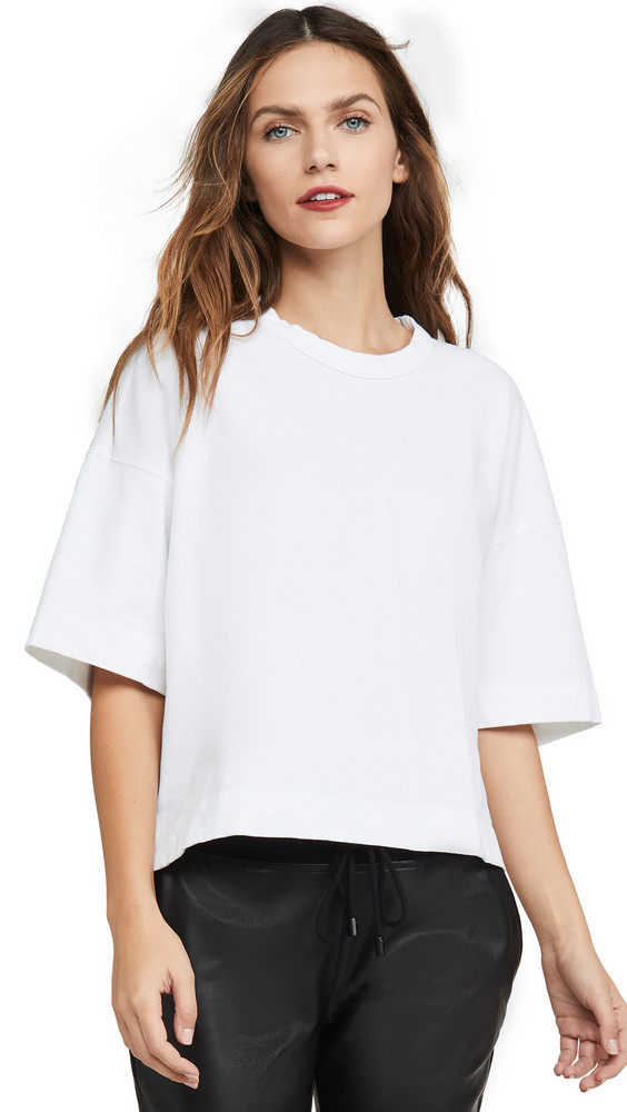 Bassike Double Jersey Boxy T-Shirt in white