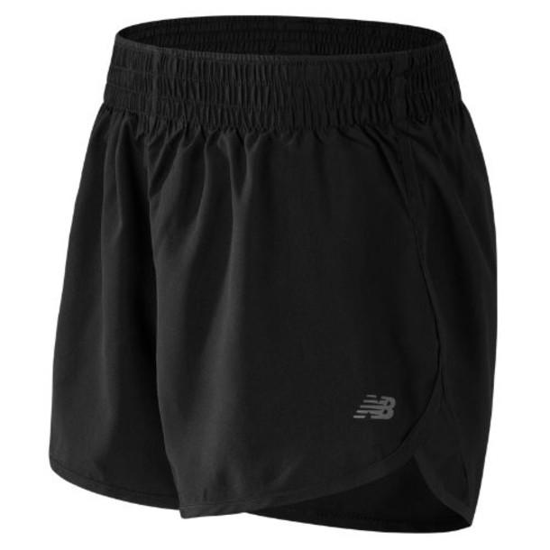 New Balance 53144 Women's Accelerate 5 Inch Short - Black (WS53144BK)