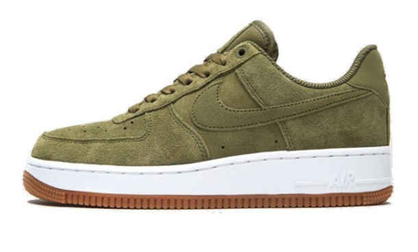 shoes, nike air force 1 07 suede trainers khaki Wheretoget