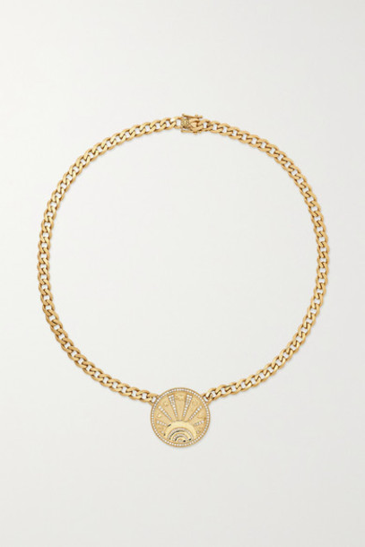 Sydney Evan - 14-karat Gold Diamond Necklace
