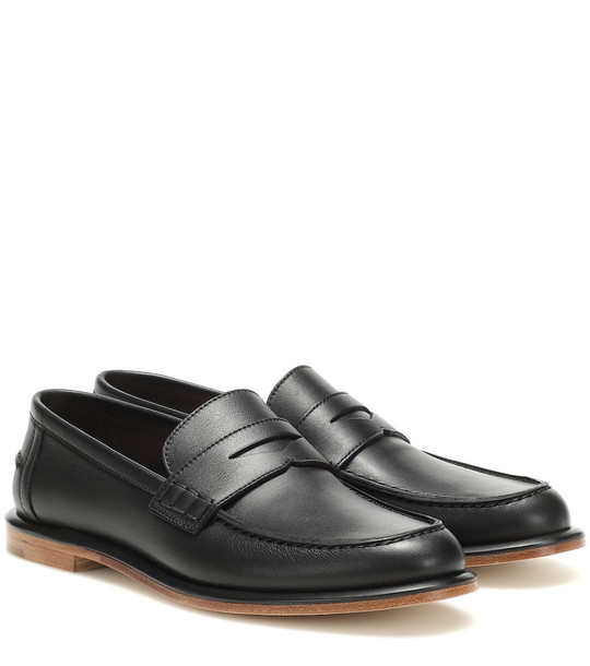 Loewe Leather loafers in black