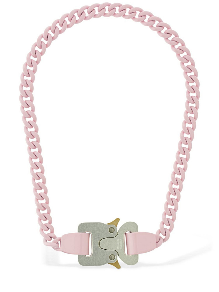 1017 ALYX 9SM Pink Chainlink Buckle Necklace