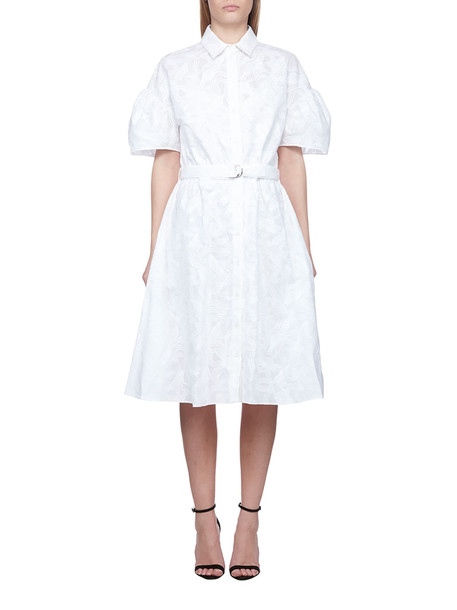 Kenzo Belted Shirt Dress in bianco