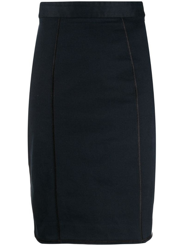 Dolce & Gabbana Pre-Owned 1990s knee-length pencil skirt in blue