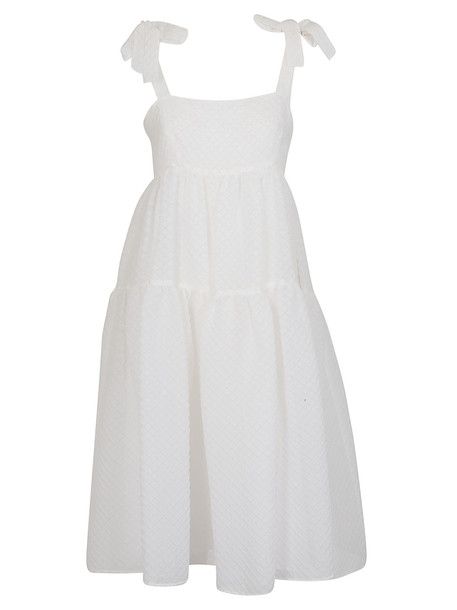 Boutique Moschino Flared Dress in white