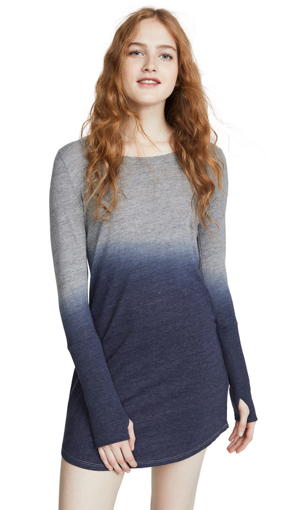 Chaser Triblend Jersey Mini Dress in navy
