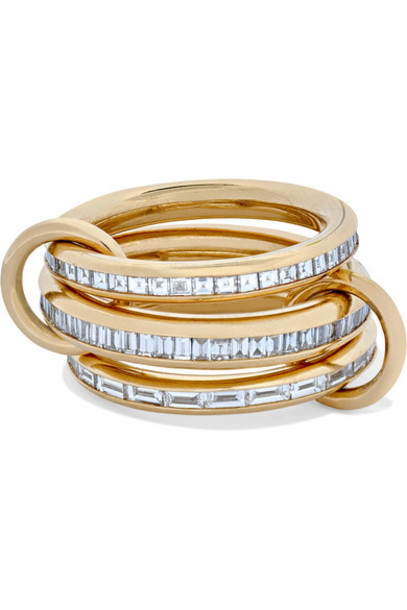 Spinelli Kilcollin - Manava Set Of Three 18-karat Gold Diamond Rings