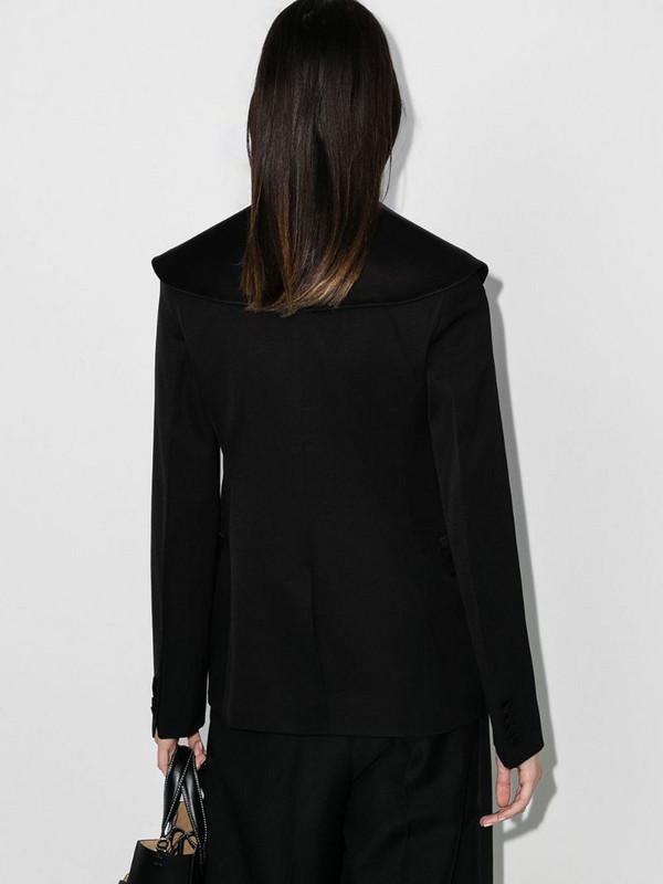 JW Anderson wide-lapel tailored blazer in black