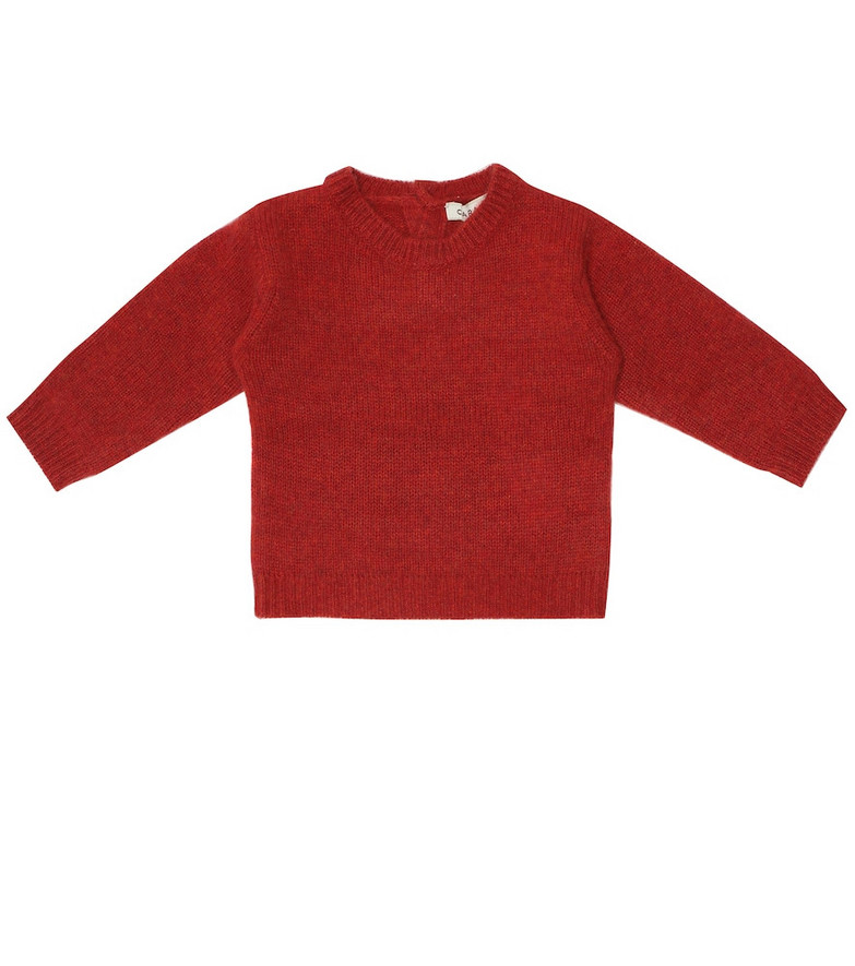 Caramel Baby Moorhen cashmere sweater in red