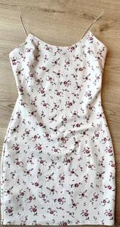 dress,white,pink,straps,mini dress