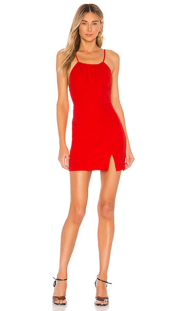superdown Missy Ruched Mini Dress in Red