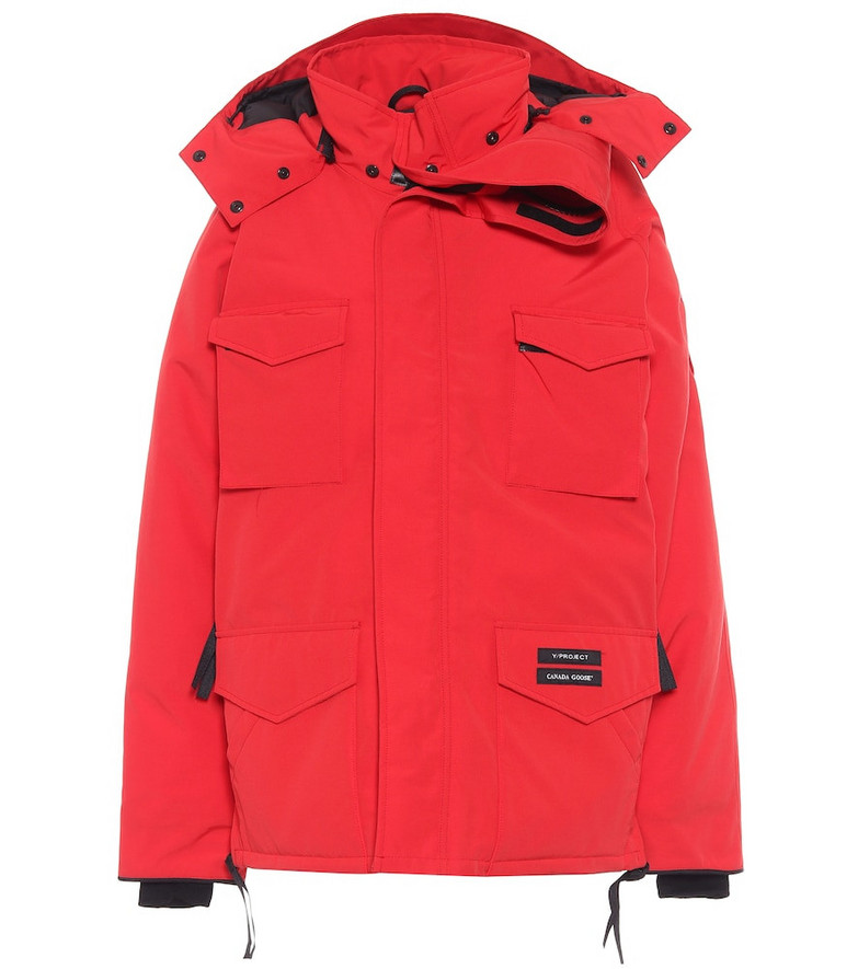 Y/PROJECT x Canada Goose Constable hooded down parka in red