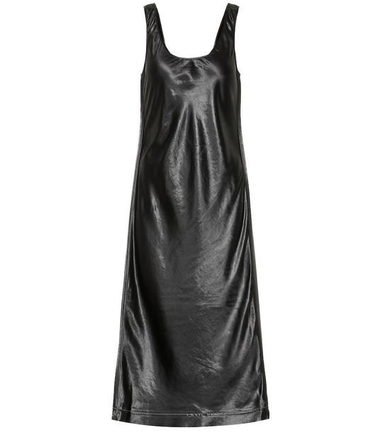 Acne Studios Satin midi dress in black