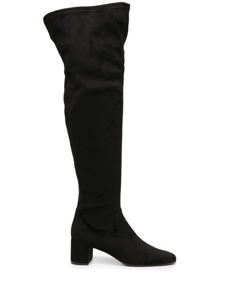Roberto Festa suede thigh-high boots in black