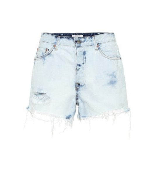 Grlfrnd The Cindy high-rise denim shorts in blue