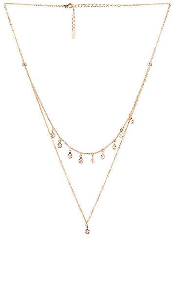 Ettika Crystal Necklace in Metallic Gold