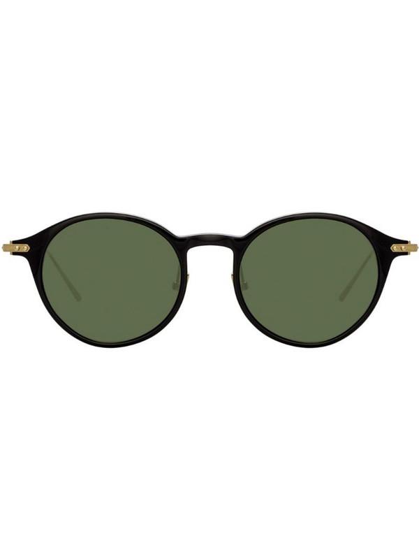 Linda Farrow oval sunglasses in black