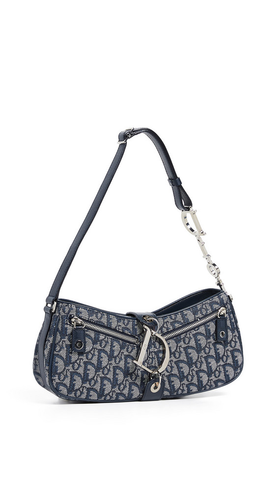 What Goes Around Comes Around Dior Trotter Shoulder Bag in navy