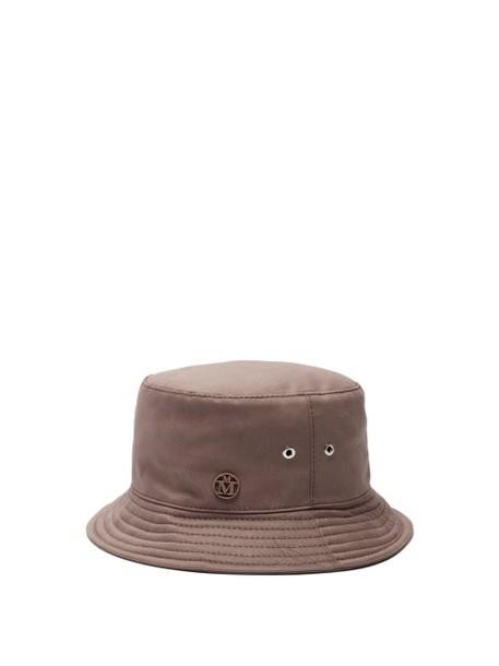 Maison Michel - Jason Quilted Brim Hat - Womens - Brown