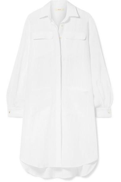 MATIN - Oversized Asymmetric Linen Dress - White