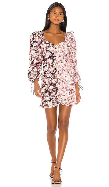 For Love & Lemons Houston Mini Dress in Pink