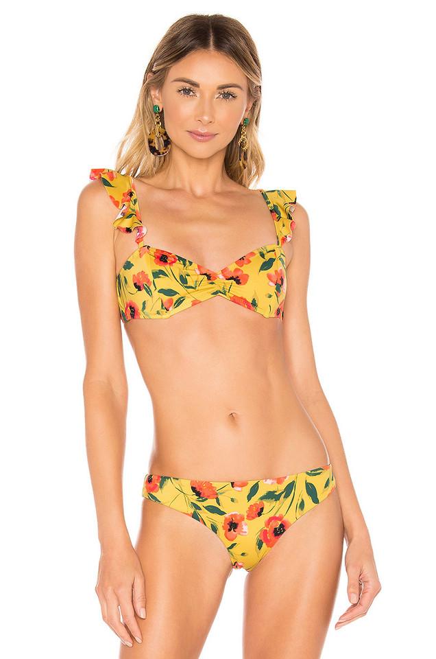 Tori Praver Swimwear Vada Top in yellow