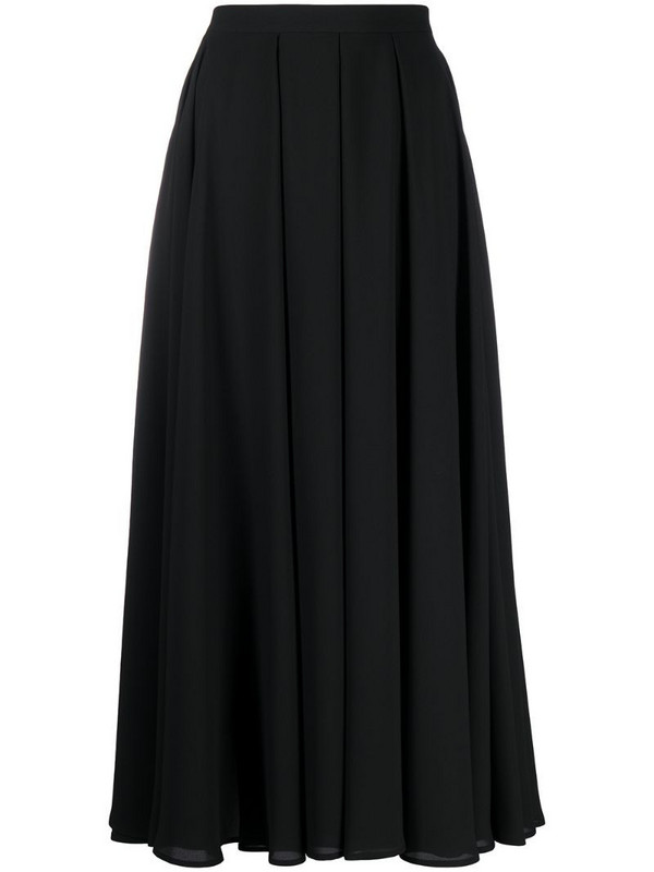 Blanca Vita pleated midi skirt in black