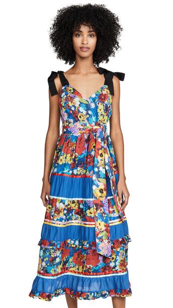 alice + olivia alice + olivia Gayla Tiered Midi Dress